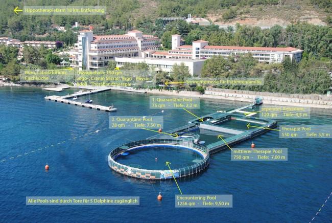 Delphintherapie in Marmaris im Meerwasser-Gehege