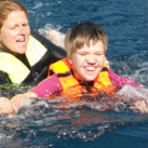 Sandra: Schwimmen mit den Delphinen