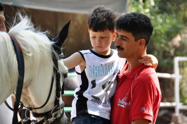 Hippotherapy for Samir