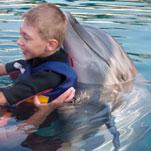 Marvin hat durch die Delphin Therphie enorme Fortschritte gemacht.