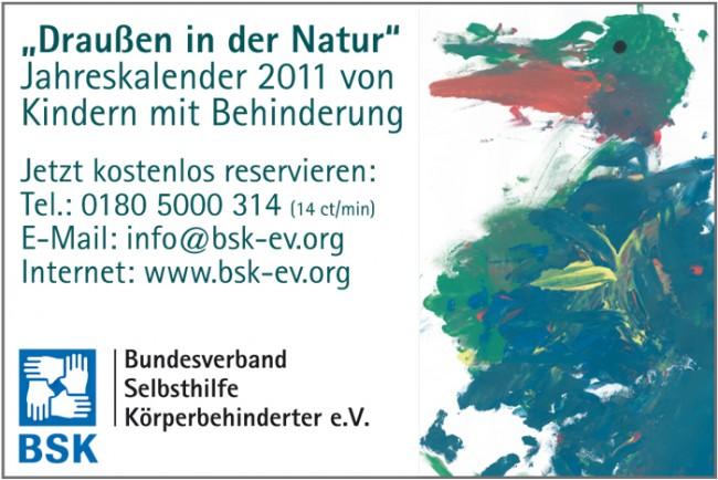 Draußen in der Natur - Jahreskalender 2010 von Kindern mit Behinderung