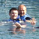Waldemar tanzte mit Delfin Flip