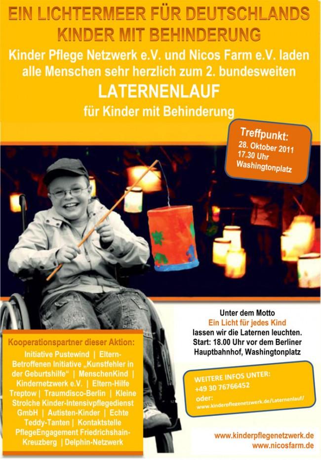 Laternenlauf für behinderte Kinder am 28.10.2011
