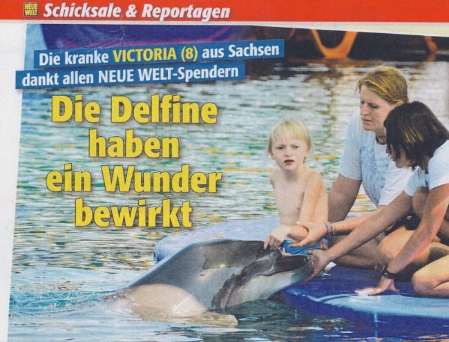 Delfintherapie von Victoria (Bildquelle: Neue Welt)
