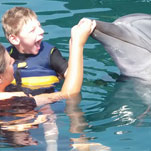 Maddox in a more balanced and happy state after dolphin therapy